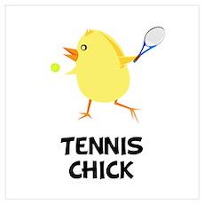 Tennis Chick Wall Art Poster