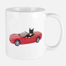 Cat in Red Car Mug
