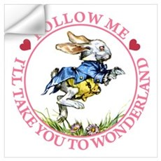 Follow Me To Wonderland Wall Art Wall Decal