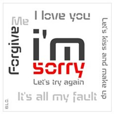 BLO I'm Sorry design Wall Art Poster