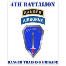 DUI-4TH BN-RANGER TRAINING BDE WITH TEXT Mini Post Poster
