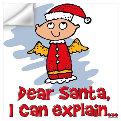 Dear Santa Bad Angel Wall Art Wall Decal