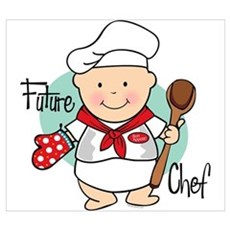 Future Chef Wall Art Framed Print