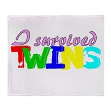 I survived twins Throw Blanket