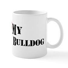 I Heart My American Bulldog Mug
