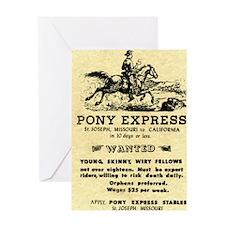 Pony Express Greeting Card