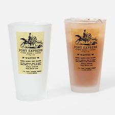 Pony Express Drinking Glass
