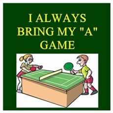 funny table tennis Wall Art Poster