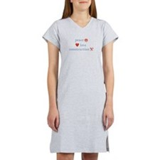 Peace, Love and Construction Women's Nightshirt