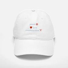 Peace, Love and Construction Baseball Baseball Cap