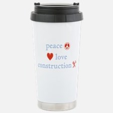 Peace, Love and Construction Stainless Steel Trave