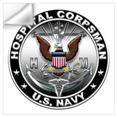 USN Hospital Corpsman Eagle H Wall Art Wall Decal