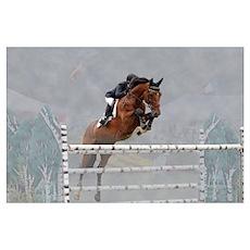 Equestrian Show Jumper Wall Art Poster