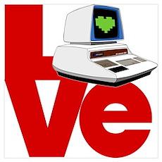 Computer Love Wall Art Poster