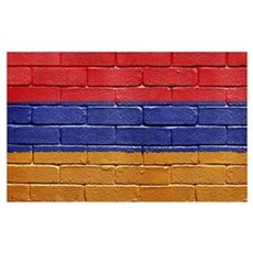 Flag of Armenia Wall Art Framed Print