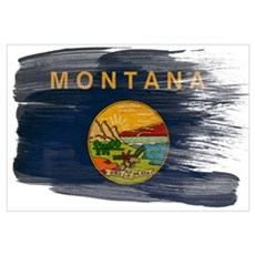Montana Flag Wall Art Canvas Art