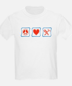 Peace, Love and Construction T-Shirt