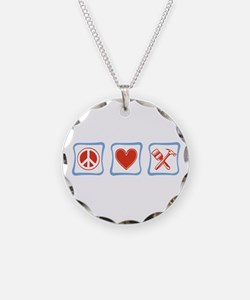 Peace, Love and Construction Necklace