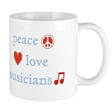 Peace, Love and Musicians Mug