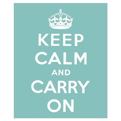 Keep Calm and Carry On Wall Art Framed Print