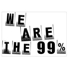 We Are The 99% Wall Art Framed Print