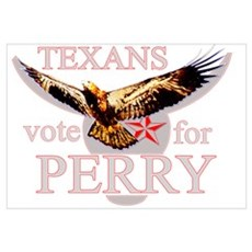 Texans Vote For Perry Wall Art Canvas Art
