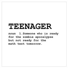Teenager Wall Art Poster