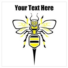 Bee. Add Your Text. Wall Art Poster