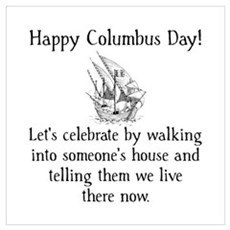 Happy Columbus Day Wall Art Poster