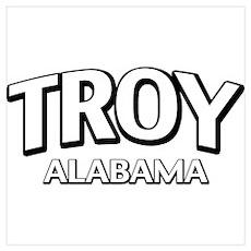 Troy Alabama Wall Art Poster