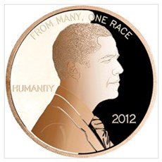 Obama Humanity Penny Wall Art Poster
