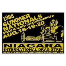 Niagara Drag Strip Wall Art Poster