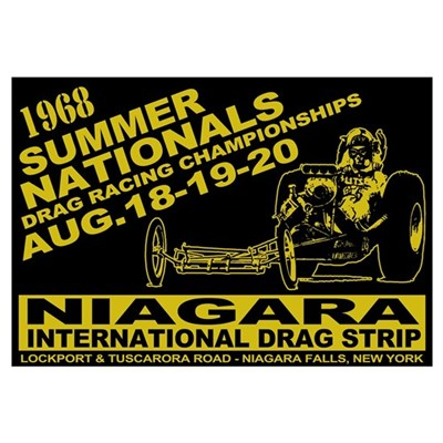 Niagara Drag Strip Wall Art Framed Print