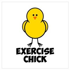 Exercise Chick Wall Art Poster