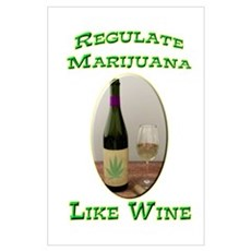 Regulate Marijuana Wall Art Poster