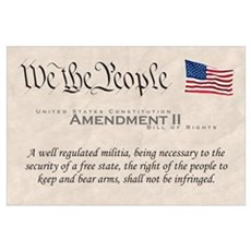 Amendment II Wall Art Poster