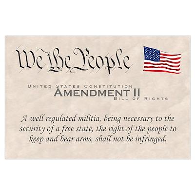 Amendment II Wall Art Poster