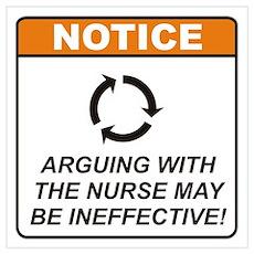 Nurse / Argue Wall Art Poster