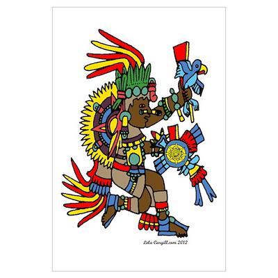 Aztec Sun God Wall Art Poster