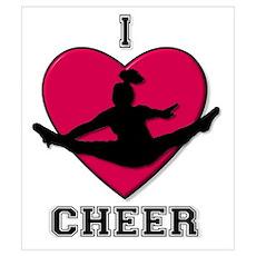 I Love Cheer Wall Art Poster