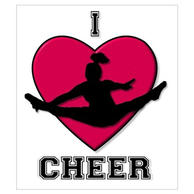 I Love Cheer Wall Art Canvas Art