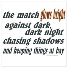 Verse: Match Glows Bright Wall Art Poster