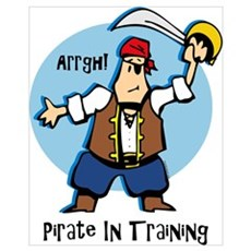Pirate In Training Wall Art Framed Print
