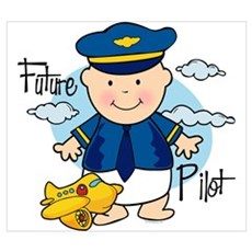 Future Pilot Wall Art Poster