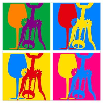 Pop Art Wine Wall Art Poster