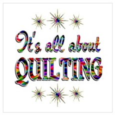 About Quilting Wall Art Poster