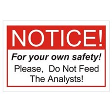 Notice / Analysts Wall Art Poster