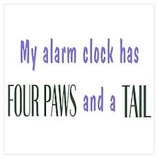 Cute Pet Alarm Clock Wall Art Poster