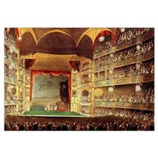 Drury Lane Theatre 1809 Wall Art Poster