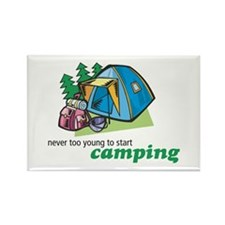 Never Too Young to Start Camping Rectangle Magnet